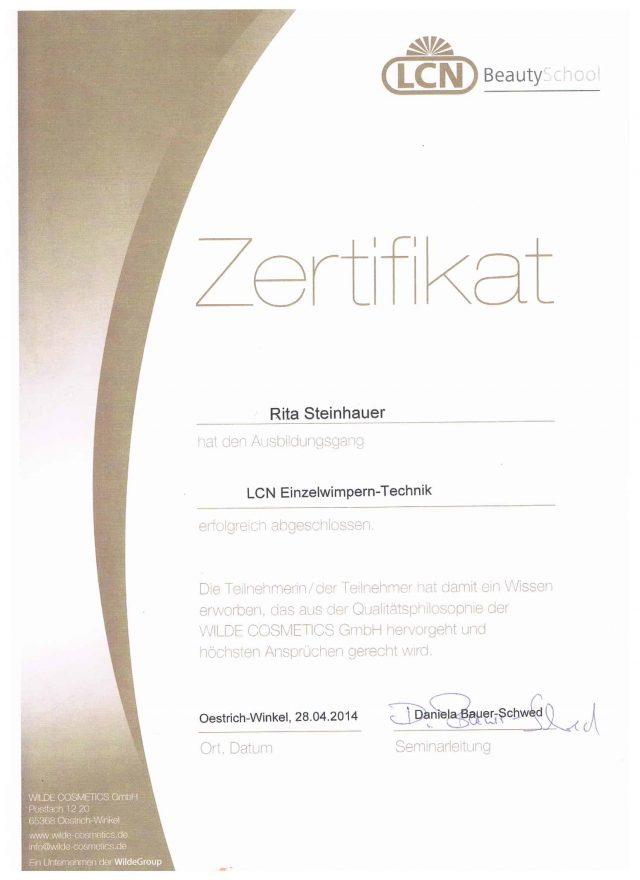 Wimperntechnik Diplom