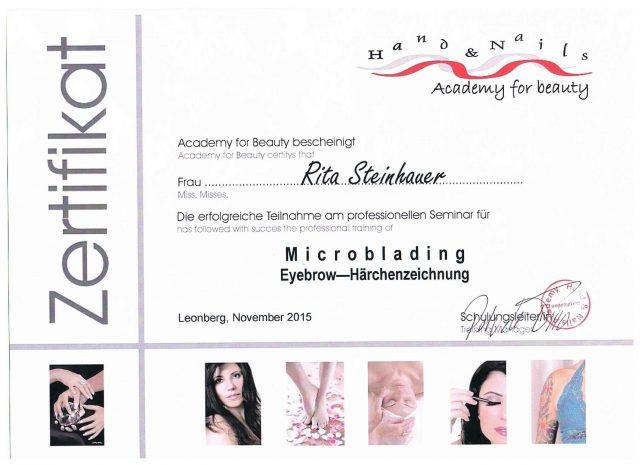 Microblading Diplom