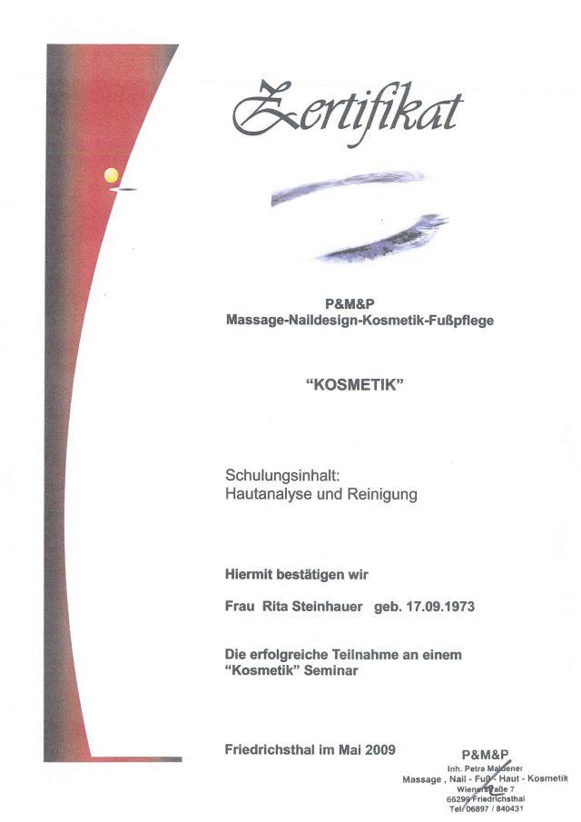 Hautpflege Diplom