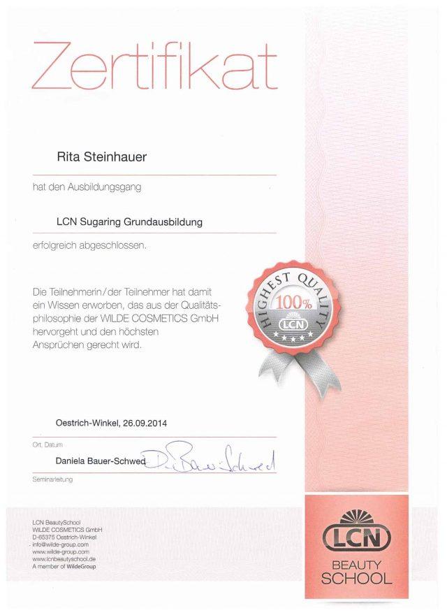 Sugaring Diplom