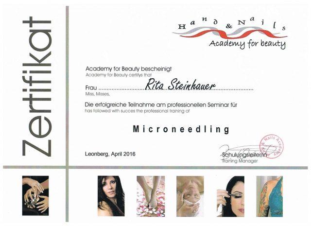 Micro Needling Diplom