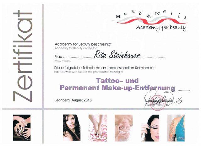 Tattoo Entfernung Diplom