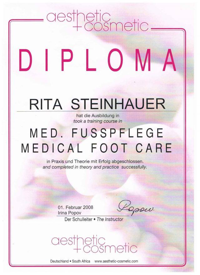Fußpflege Diplom