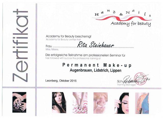 Permanent Make Up Diplom